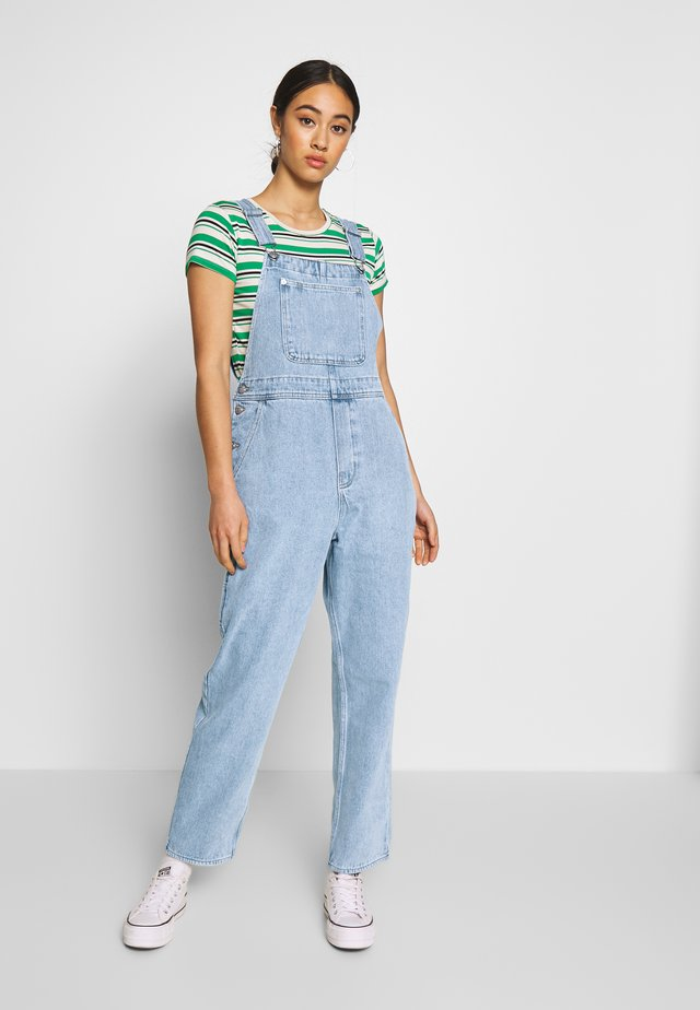 CIARA DUNGAREES - Hängselbyxor - blue medium dusty