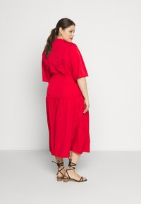 Glamorous Curve - TIE WAIST SHIRT DRESS - Blousejurk - coral red - 2