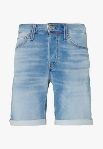JJIRICK JJICON - Jeansshorts - blue denim