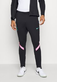 Nike Performance - FC BARCELONA DRY SUIT - Club wear - black/black/pink beam/new green - 2