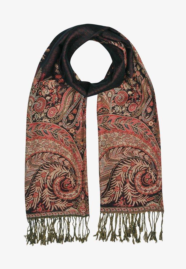 Sjaal - mehrfarbig gem. foto mit schwarz & rot & beige