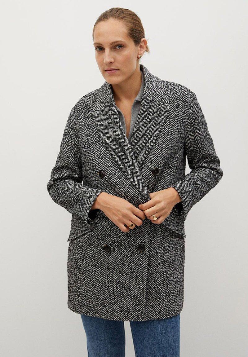 Mango - DARWIN - Short coat - schwarz