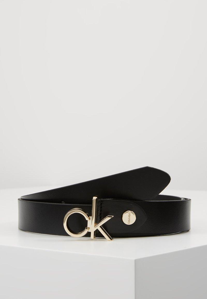 Calvin Klein - LOW BUCKLE BELT - Gürtel - black