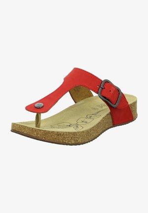 TONGA - T-bar sandals - rot