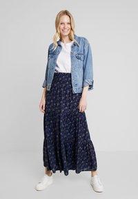 PEPPERCORN - SKIRT FLOWER PRINT - Maxi skirt - dark blue - 1