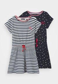Blue Seven - GIRL DRESS 2 PACK - Žerzejové šaty - dunkelblau - 0