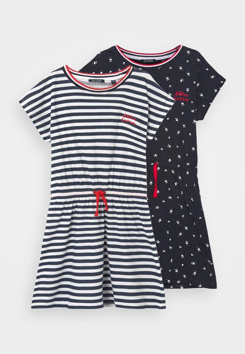 Blue Seven - GIRL DRESS 2 PACK - Žerzejové šaty - dunkelblau