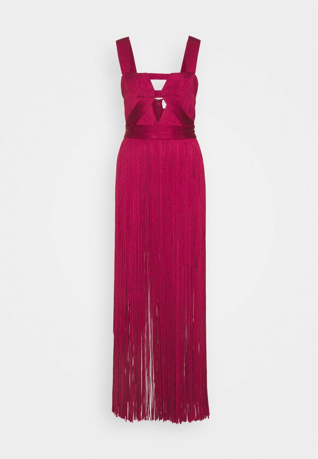 CUT OUT GOWN - Vestido de fiesta - maroon