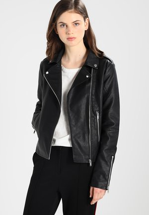 VICARA FAUX JACKET - Faux leather jacket - black