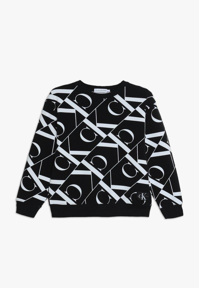 Calvin Klein Jeans - MIRROR MONOGRAM  - Sweatshirt - black