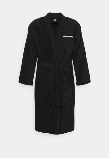 LOGO BATH ROBE UNISEX - Dressing gown - black