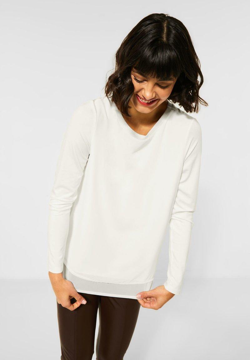 Street One - Long sleeved top - weiß