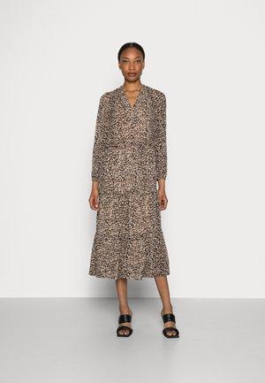 ANI FRILL MIDI - Shirt dress - brown