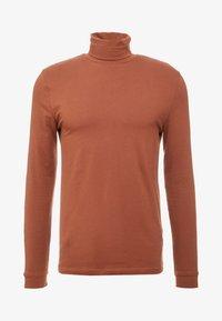Topman - ALMOND ROLL NECK - Topper langermet - brown - 3