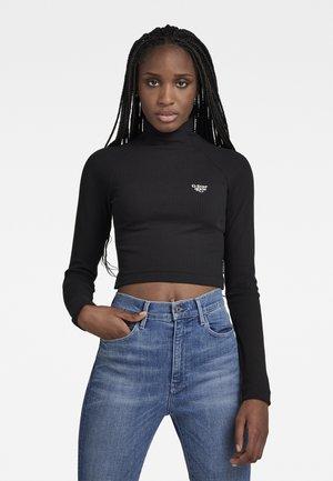 FOXY CROPPED SLIM L\S - T-shirt à manches longues - dk black