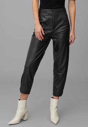 Leather trousers - pure black