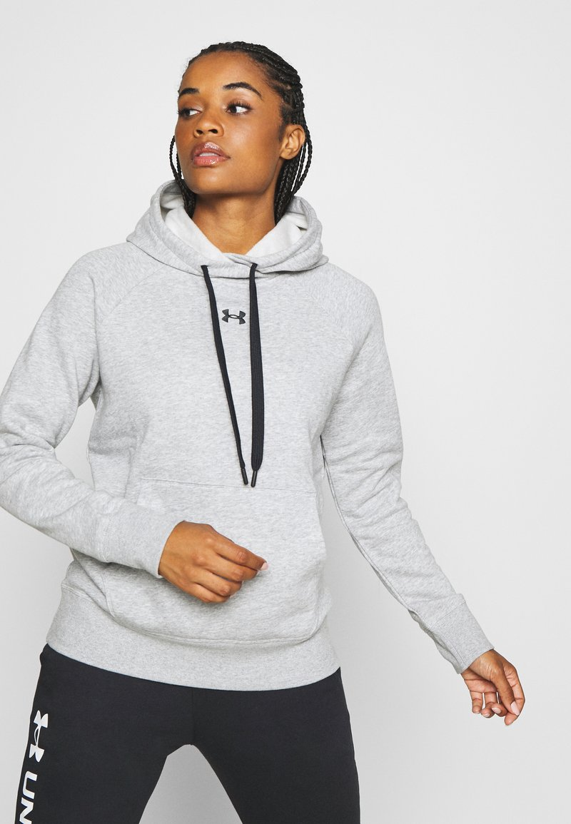 Under Armour - RIVAL HOODIE - Mikina s kapucí - steel medium heather