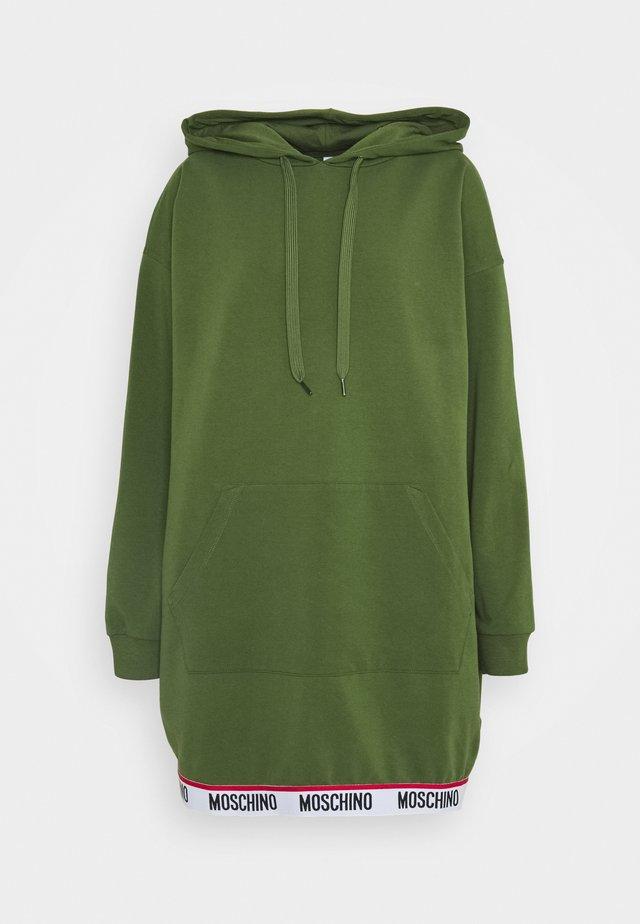 MAXI HOODIE - Noční košile - military green