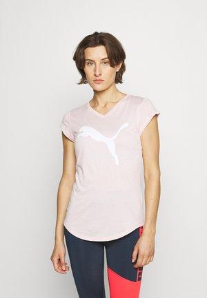 TRAIN FAVORITE HEATHER CAT TEE - Print T-shirt - lotus heather
