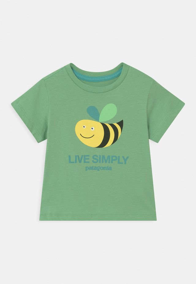 LIVE SIMPLY UNISEX - Printtipaita - mint