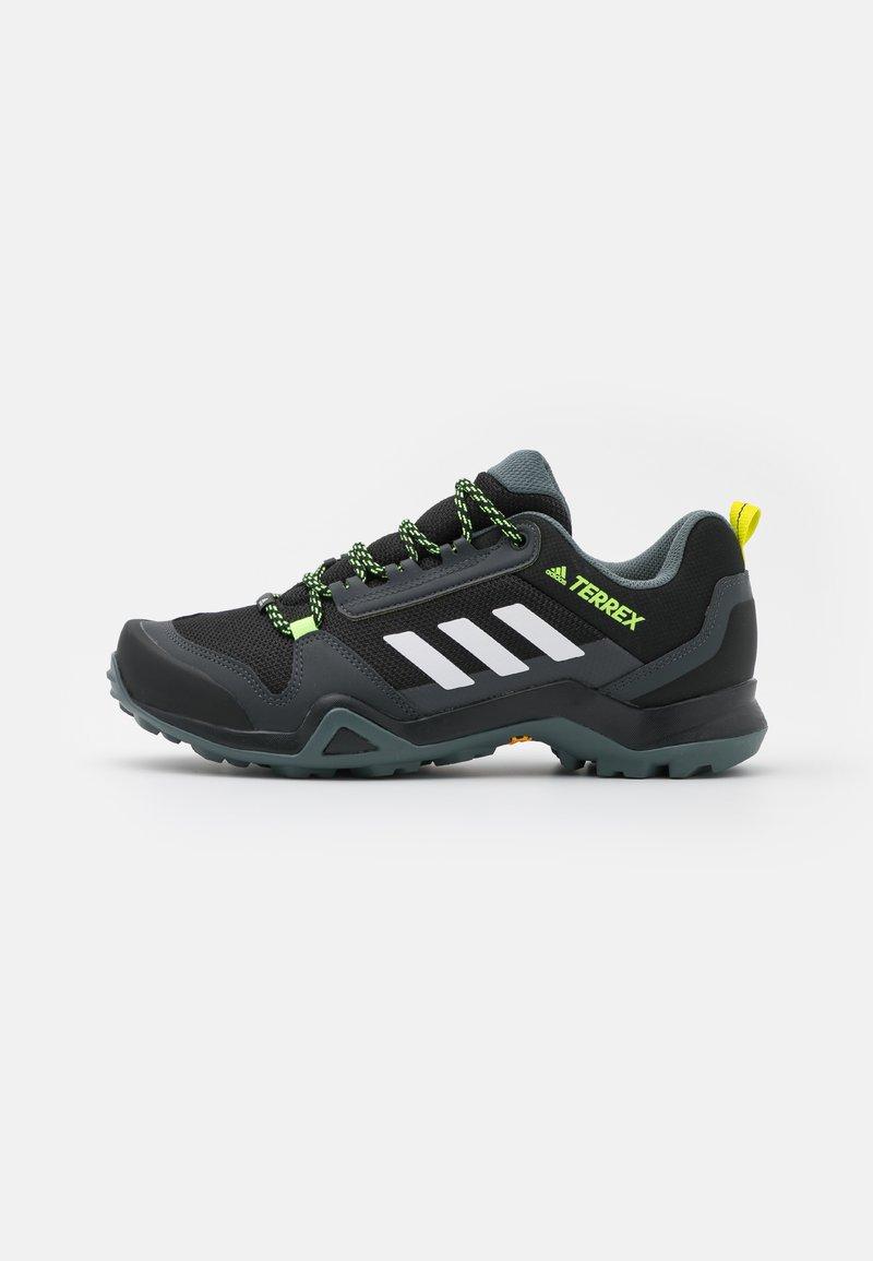 adidas Performance - TERREX AX3 - Hiking shoes - core black/footwear white/acid yellow