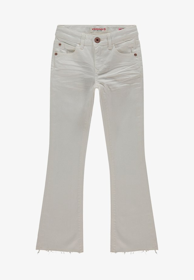 Flared Jeans - white denim