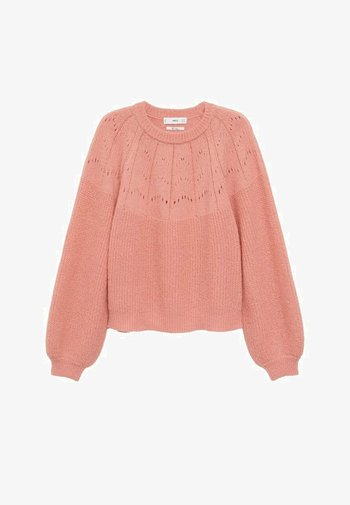 AIRY - Stickad tröja - hellrosa