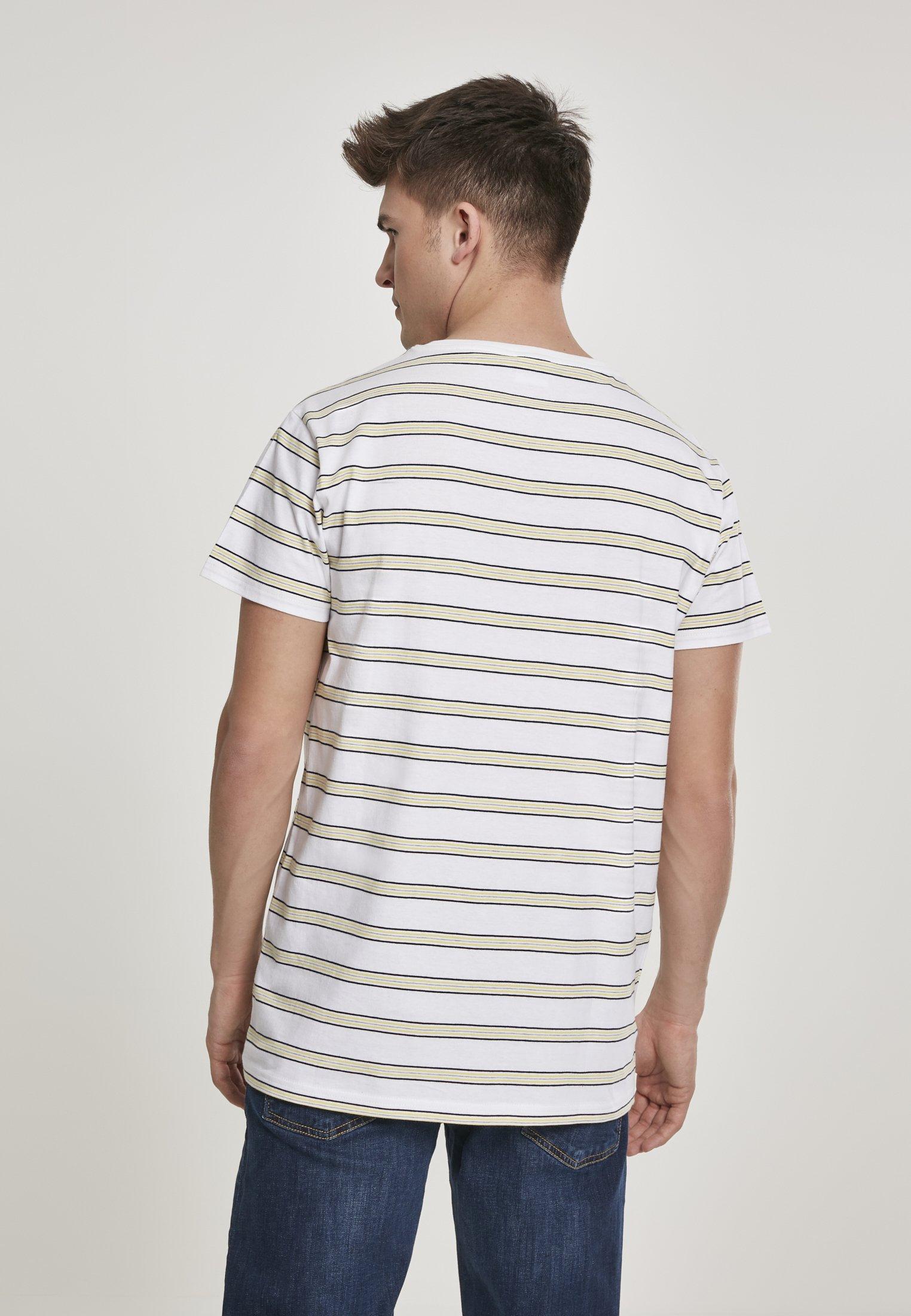 Urban Classics STRIPE TEE - Print T-shirt - white nhFjF