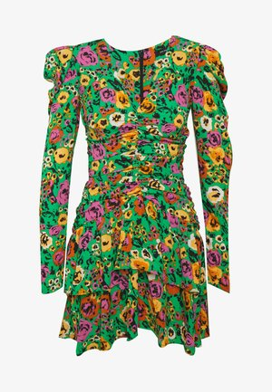 THE RUCHED 80S MINI DRESS - Sukienka koktajlowa - green