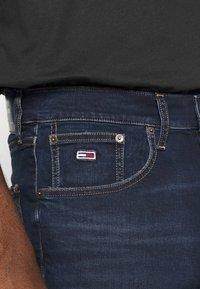 Tommy Jeans - REY RELAXED - Denim shorts - dark-blue denim - 4