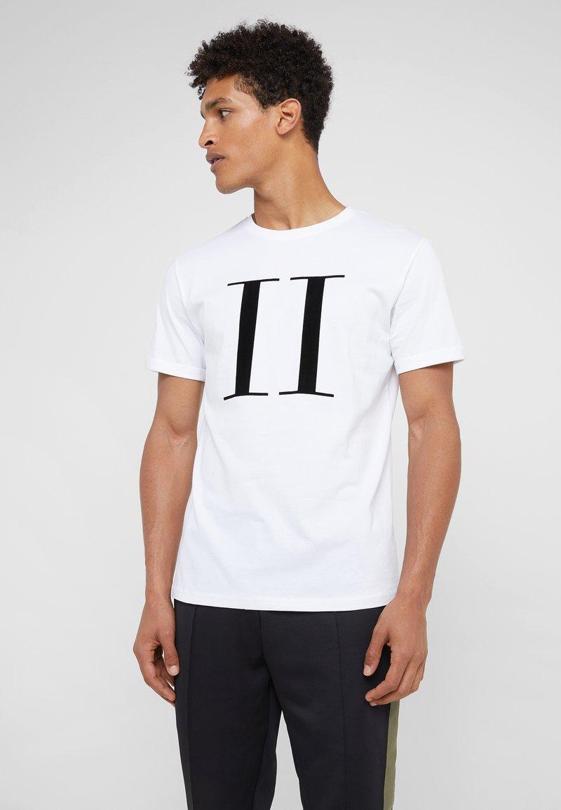 Les Deux - ENCORE  - Print T-shirt - white/black