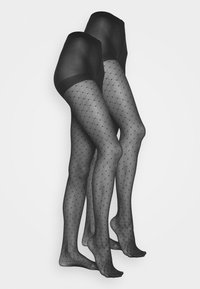 Pour Moi - CHARM LUXE 15 DENIER DIAMOND TIGHTS 2 PACK - Tights - black - 1