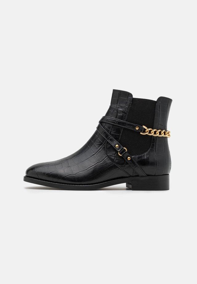 ELONI - Cowboy/biker ankle boot - noir