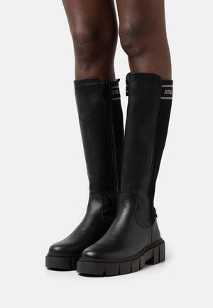 MARS - Platåstøvler - black