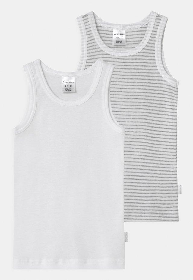 2 PACK - Undershirt - white/mottled grey