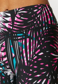 DKNY - HIGH RISE 7/8 TROPIC SHADOW PRINT - Leggings - laser pink - 6