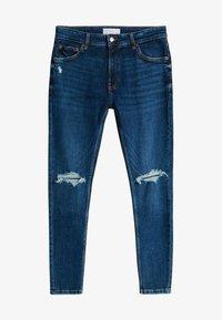 Bershka - MIT RISSEN  - Jeans Skinny Fit - blue - 4