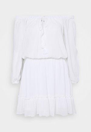 BARDOT TASSEL DRESS - Robe d'été - white