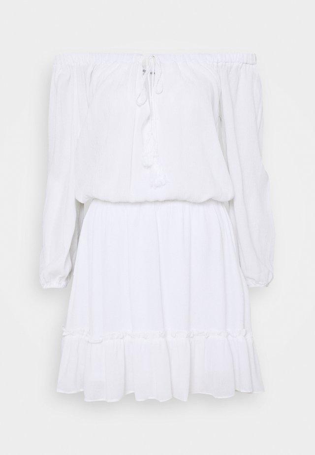 BARDOT TASSEL DRESS - Day dress - white