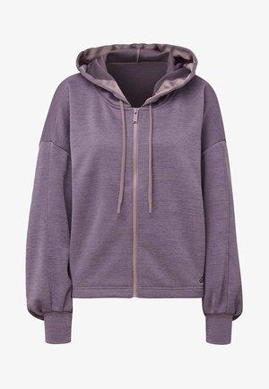 GATHERED HOODIE - Zip-up hoodie - purple