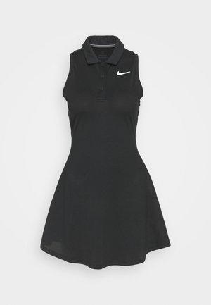 POLO DRESS - Vestido de deporte - black/white