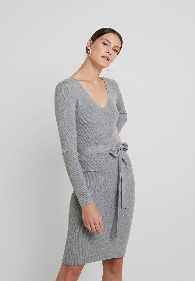 Jumper dress - mid grey marl