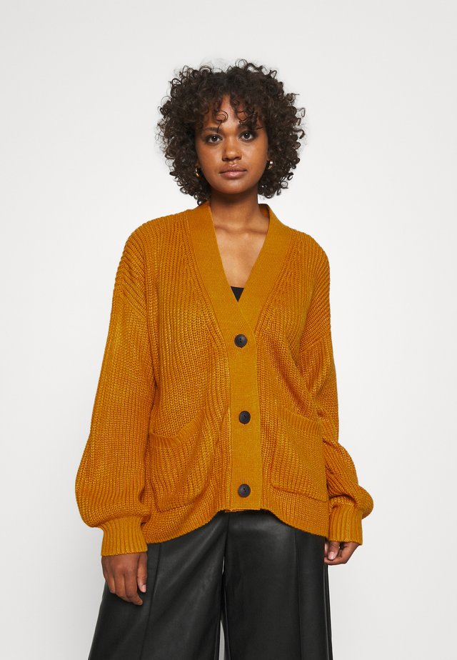 NMTOMMY CARDIGAN - Strickjacke - inca gold