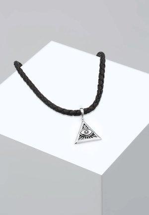 EVIL EYE DREIECK - Necklace - silver-coloured