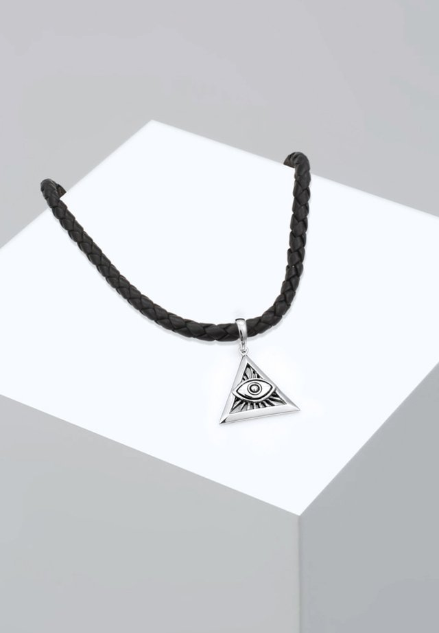 EVIL EYE DREIECK - Necklace - silver-coloured