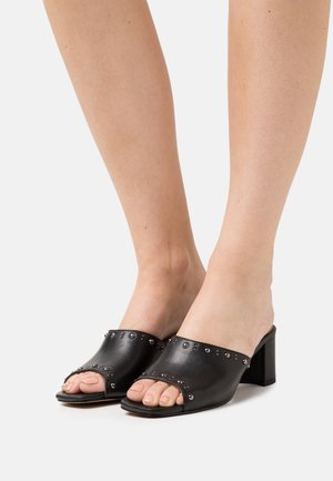 SAFFIRA - Heeled mules - black