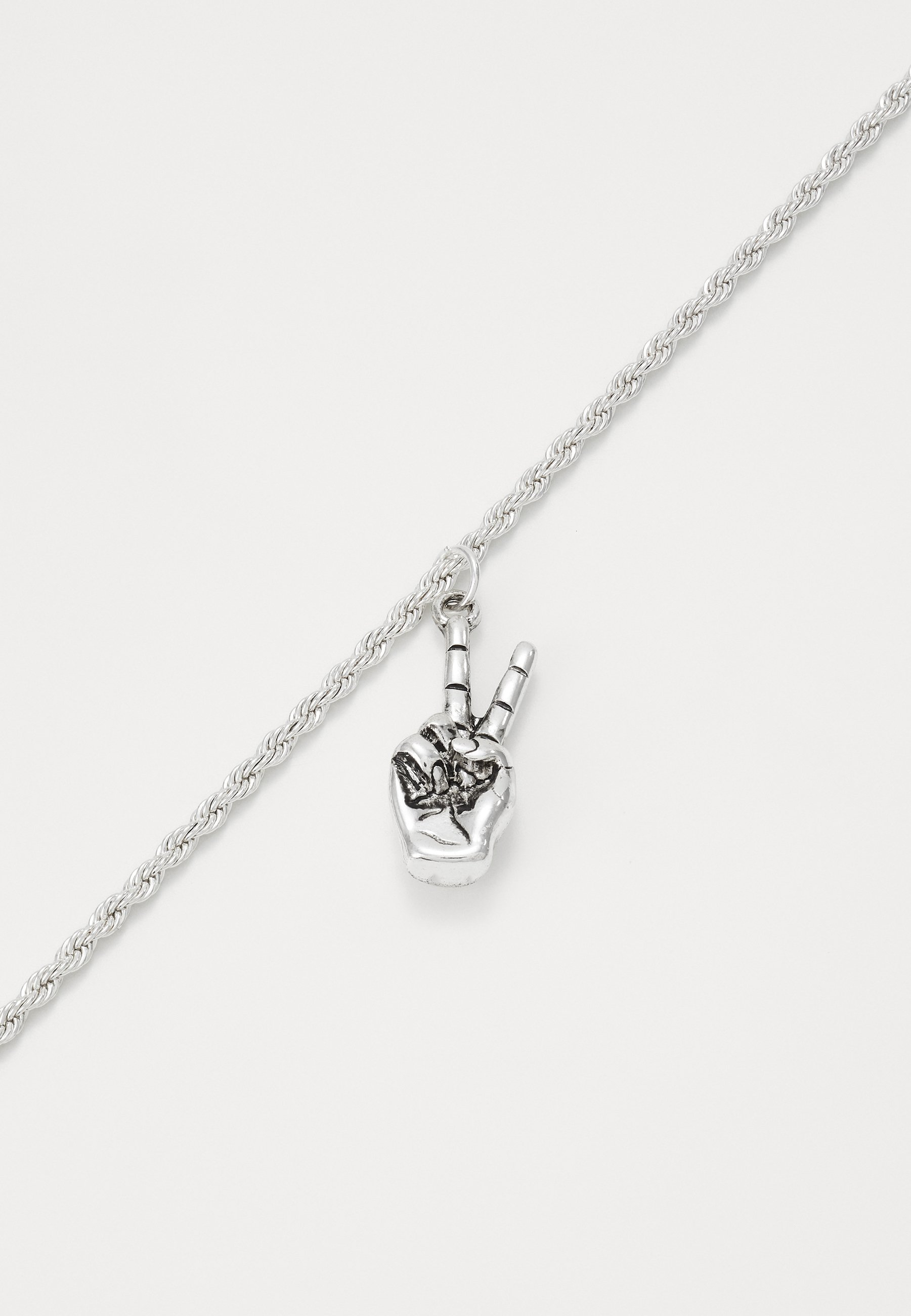 Wild For The Weekend PEACE HAND NECKLACE - Smykke - silver-coloured/sølv x7SH5bhg1eBL7kc