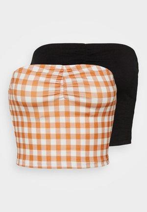 MAYA RUCHED BANDEAU 2 PACK - Top - rust/black