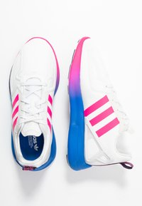 adidas Originals - ZX 2K FLUX - Trainers - crystal white/shock pink/blue - 3