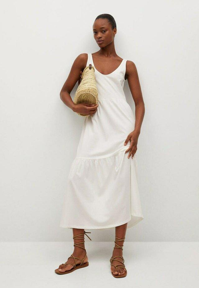 Długa sukienka - off white